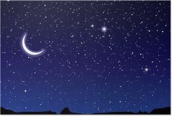 Poster Ruimte landschap maan
