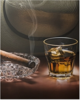 Rum and cigar Poster