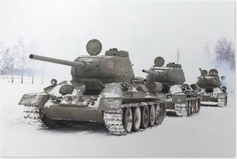 Poster Ryska stridsvagnar T34