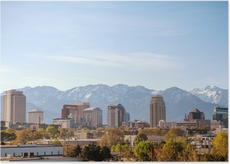 Salt Lake City downtown overview Poster