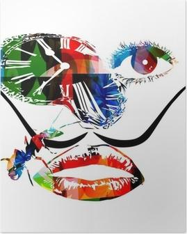 Poster Salvador Dali vecteur d'œuvres d'art inspirées