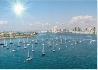 San Diego skyline and Waterfront Poster