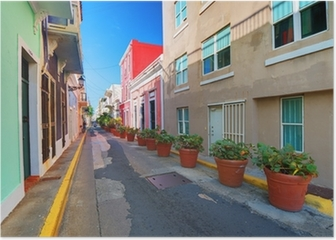 San Juan, Puerto Rico Old City Alleyway Poster