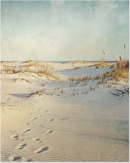 Sand Dunes at Sunset Textured Image Poster