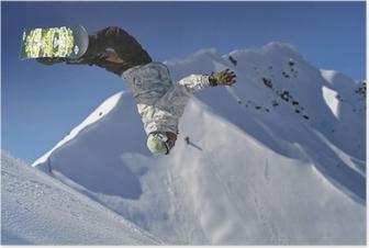 Póster Saut snowboard