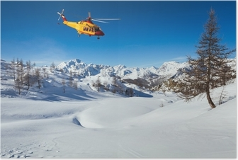 Poster Sauvetage par hélicoptère