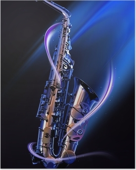 Poster Saxophone