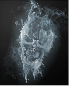 Poster Schedel - smoke