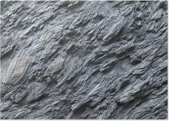 Schiefer, Naturstein, Gesteinsvorkommen, Felswand Poster
