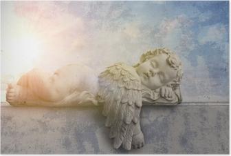 Schlafender Engel im Sonnenschein Poster