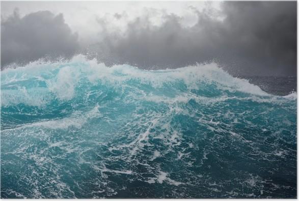Poster Sea Wave i Atlanten under storm -