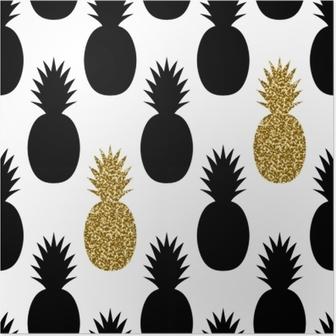 Poster Seamless Ananas