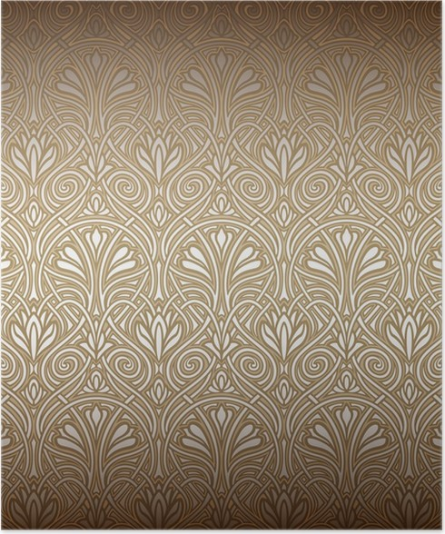seamless art nouveau pattern poster pixers we live to change