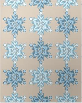 Poster Seamless bakgrund med snöflingor. Skriva ut. Upprepa bakgrund. Tyg design, tapet.