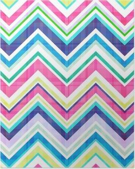 seamless chevron pattern Poster