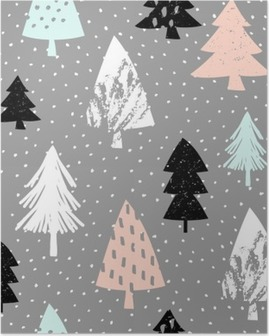 Seamless Christmas Pattern Poster