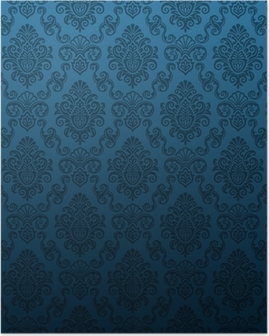 Seamless damask wallpaper Poster