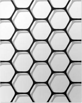 Seamless hexagons pattern. Poster