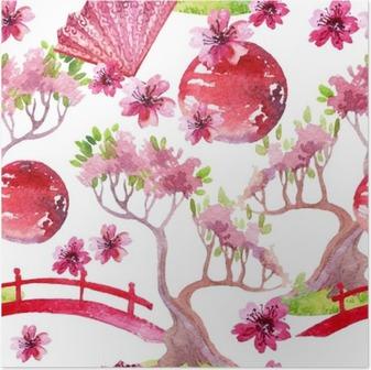 Poster Seamless japonais
