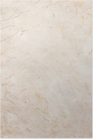 Seamless Soft Beige Marble Texture Poster