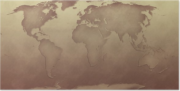 Sepia tone world map poster pixers we live to change sepia tone world map poster themes gumiabroncs Image collections