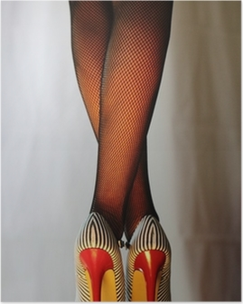 Sexy Frau in 5inch-High-Heels Poster