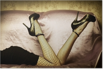 Poster Sexy jambes féminines en chaussures