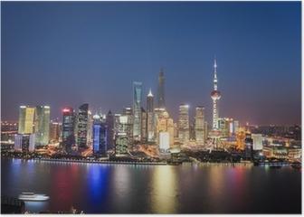 shanghai lujiazui night view Poster
