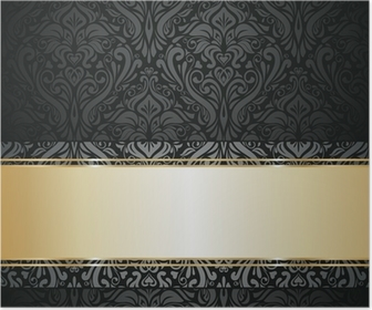 Silver luxury vintage wallpaper Poster