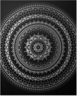 Poster Silver mandala