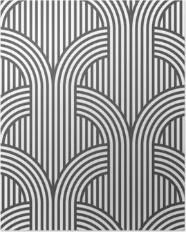 Póster Sin patrón de rayas blanco y negro geométrica - variación del 5