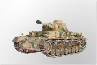 Poster Skalenlig modell av en tysk tank från andra världskriget
