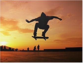 Skateboard Silhouette Poster