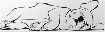 Poster Sleeping Bulldog français pour bébé