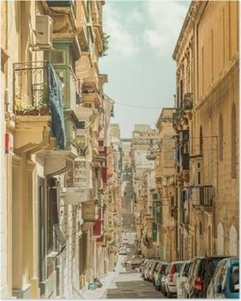 Poster Smalle straat in Malta