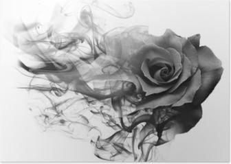 Smoke rose from Poster