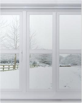 Poster Snow Scene fenêtre