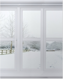 Snow Scene Window Poster