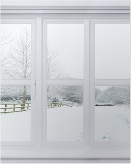 Poster Snow Scene Window
