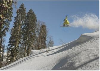 Snowboard freerider Poster