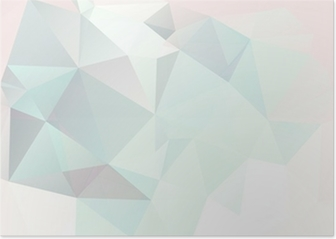 soft pastel abstract geometric background with gradients vector Poster