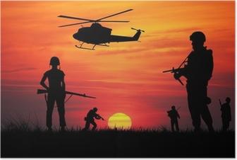 Poster Soldats à la guerre