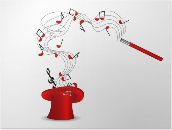 Póster Sombrero mágico • Pixers® - Vivimos para cambiar 606140ac9a6
