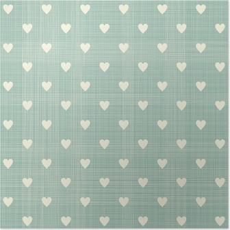 Poster Sömlös hjärtan mönster