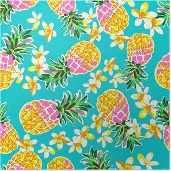 Poster Söta ananas sömlös tryck