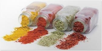 Poster Spice uitgieten van set kruidkruiken