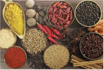Spices and herbs Poster