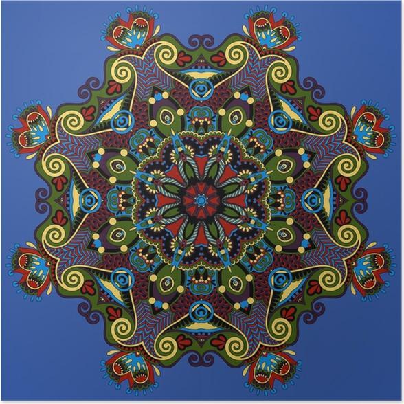 Spiritual indian symbol of lotus flower poster pixers we live spiritual indian symbol of lotus flower poster mightylinksfo