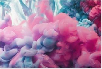Poster Splash van kleureninkt. abstracte achtergrond