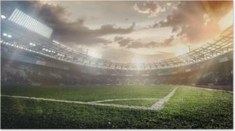 Poster Sport achtergronden. voetbal stadion.